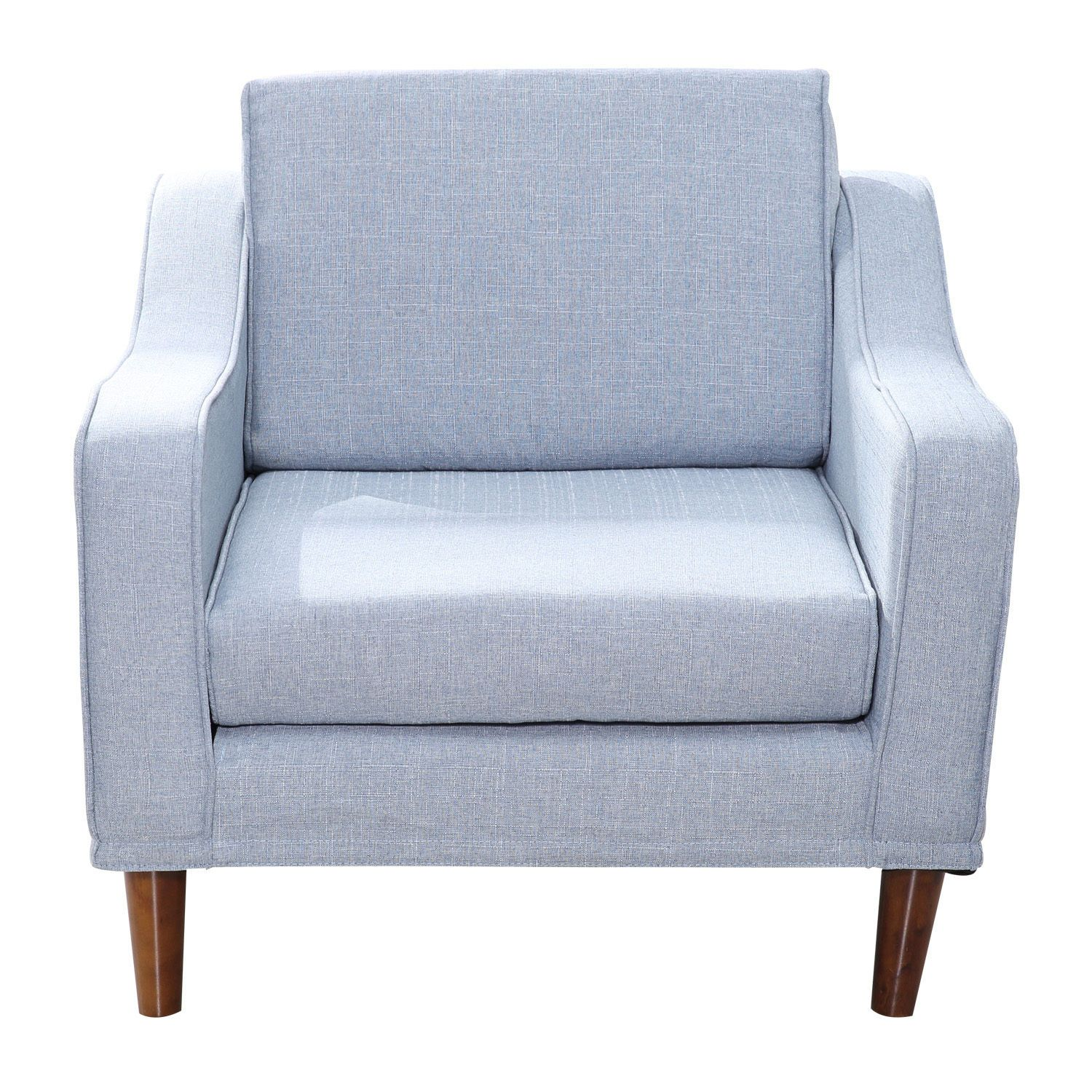 Sofa Arm Chair Single Seat Wood Chaise Linen Couch Cover Lounge Detachable Home | Armchair furniture