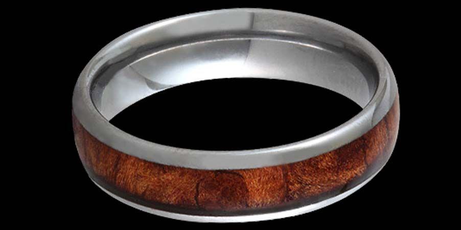 California Redwood BurlTungsten Wedding Ring 02 Wedding Rings