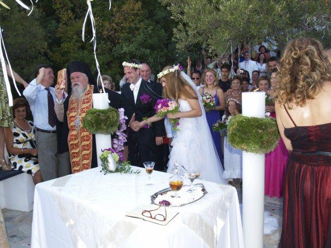 example of outdoor greek wedding   Greek Wedding Ceremony