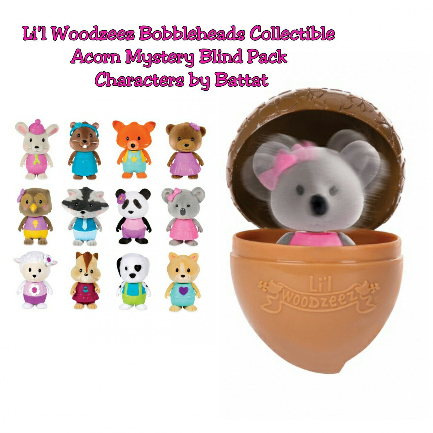 l li acorn pin blinds series characters bobbleheads collectible blind packs mystery woodzeez