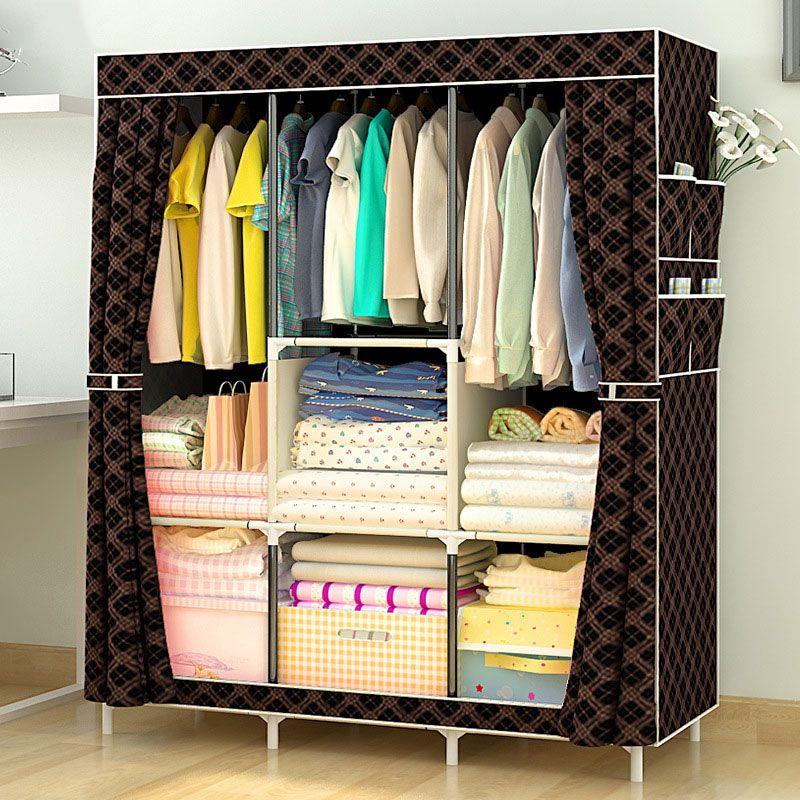 comprar Multiusos armario paño no tejido Telas armario portátil ...