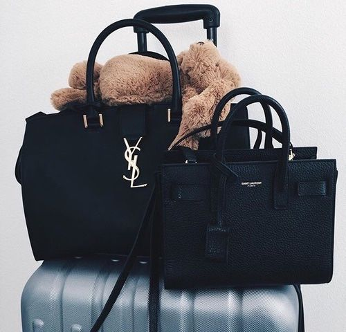 Saint Laurent - Monogramme Cabas baby leather tote