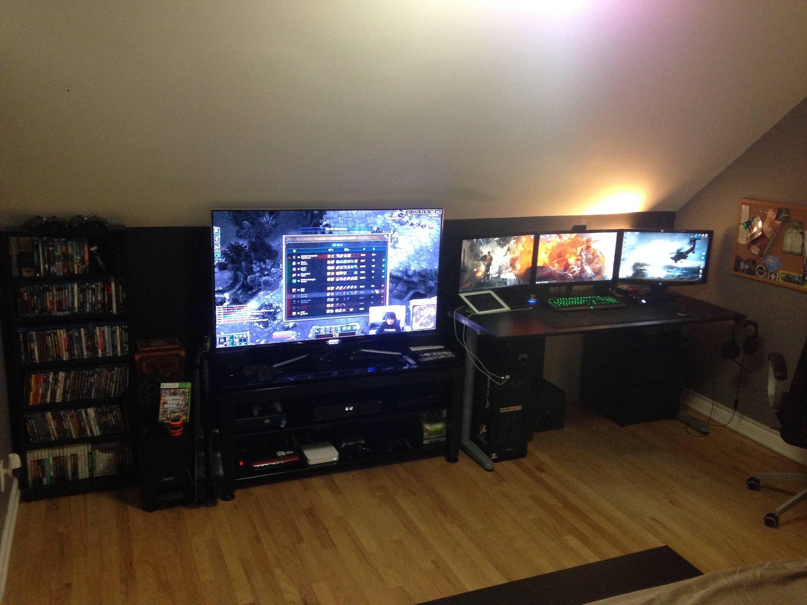 gaming man cave. A Gamers Man Cave. Gaming Cave N