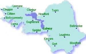 Map Of County Galway Ireland.Map Of County Galway Galway County Galway Sligo