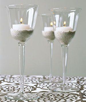 Entertaining New Uses Wine Glass Candle Wine Glass Centerpieces Wine Glass Candle Holder