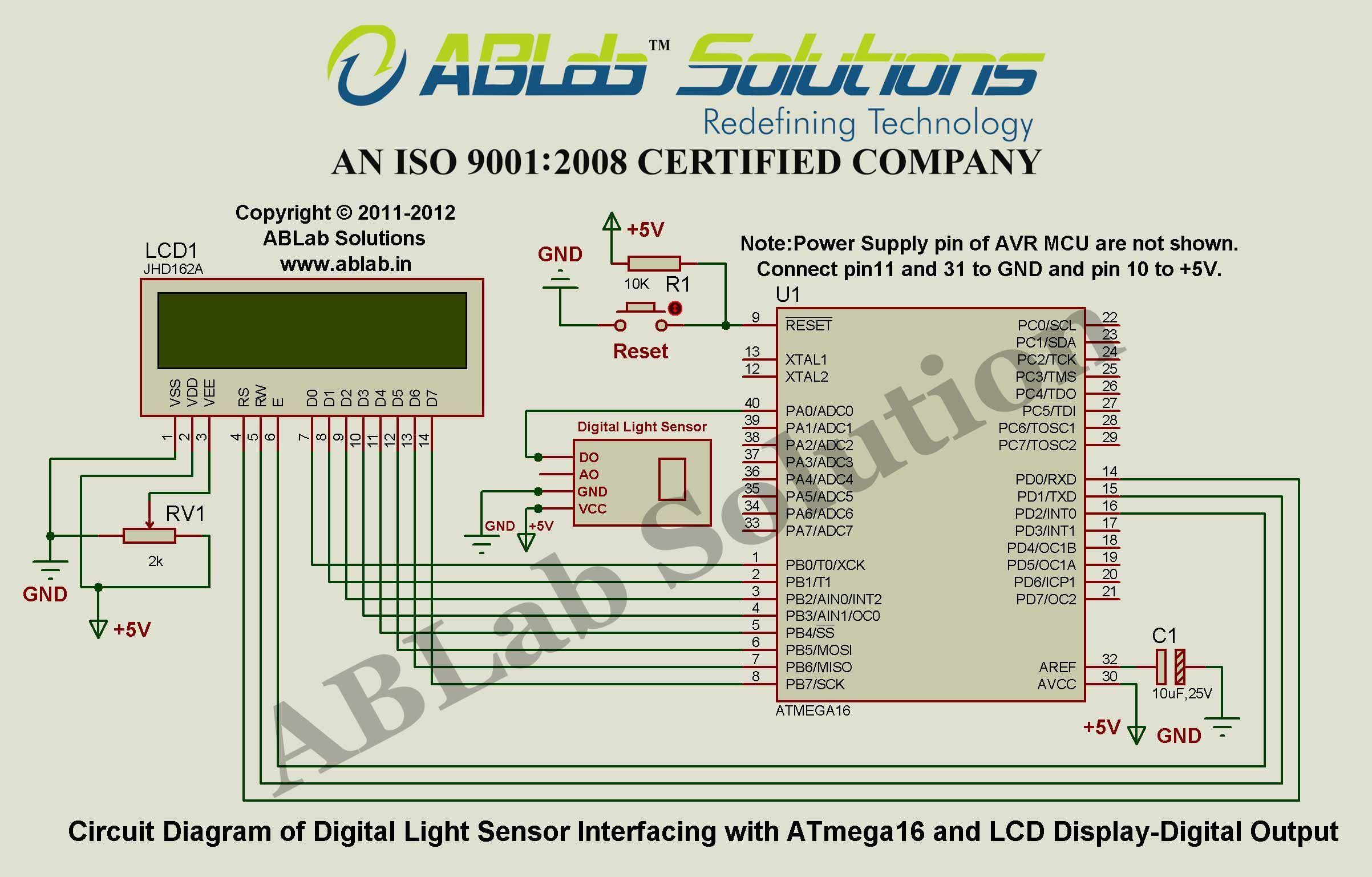 Digital-Light-Sensor-Interfacing-with-AVR ATmega16 Microcontroller ...