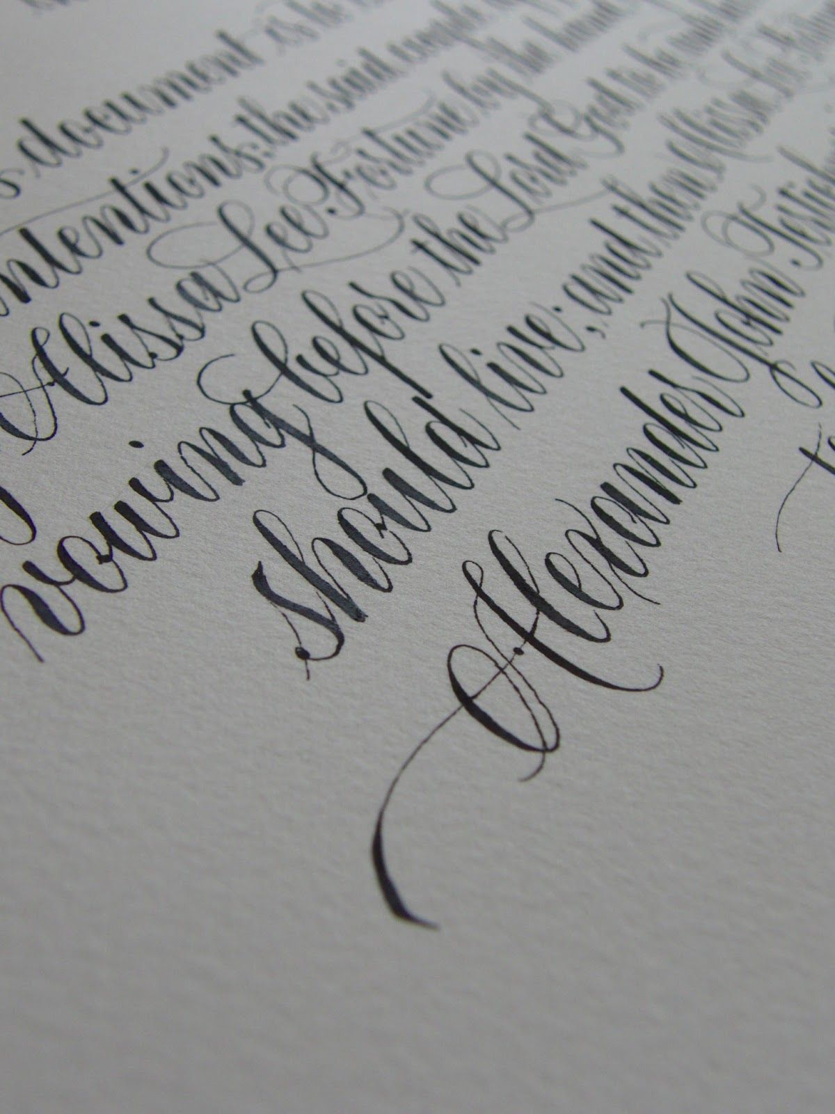 Beautiful calligraphy the beauty of penmanship once