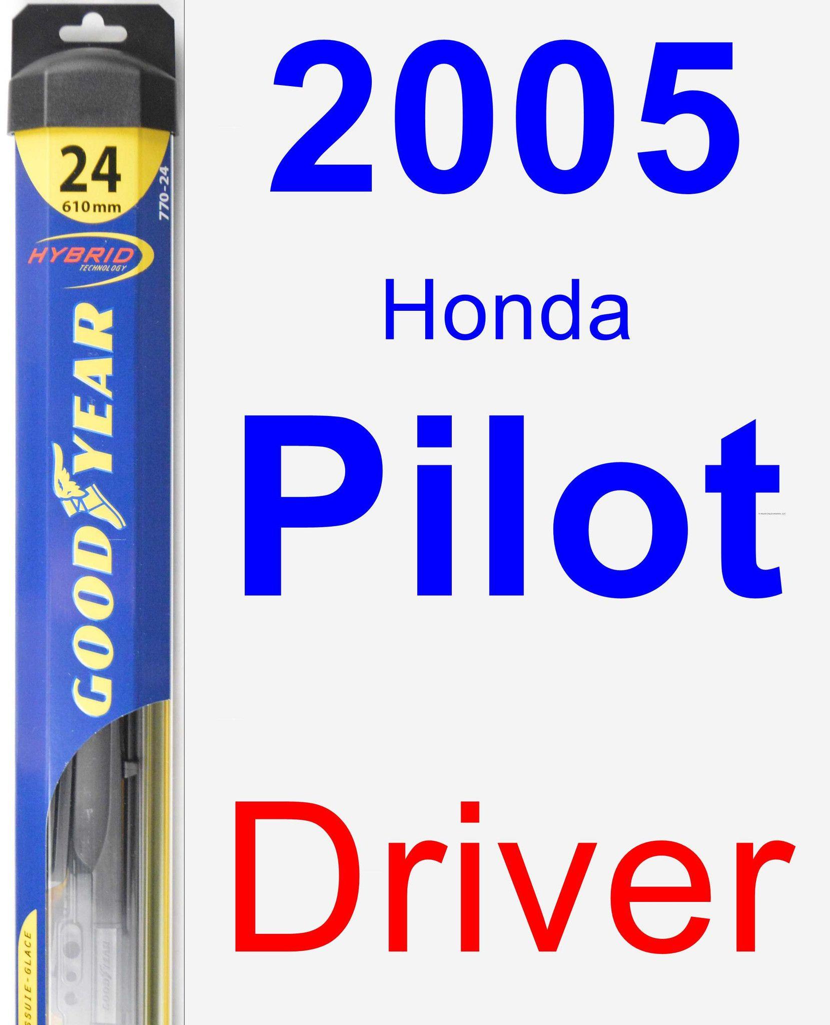 Driver Wiper Blade For 2005 Honda Pilot - Hybrid