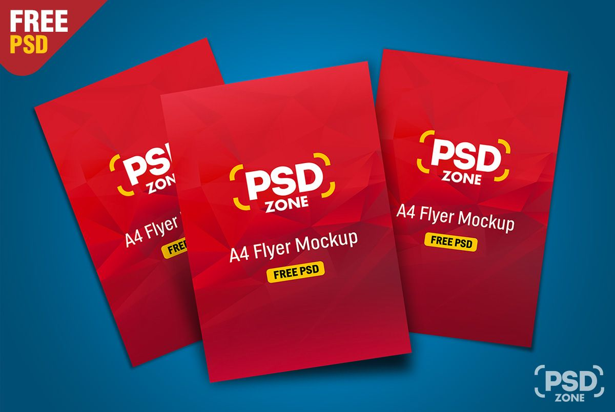 Here Is A Free Flyer Mockup Template Which Is Great For Showcasing Multiple Flyer Design In A Single Mockup You Can Also U Flyer Mockup Psd Flyer Mockup Flyer