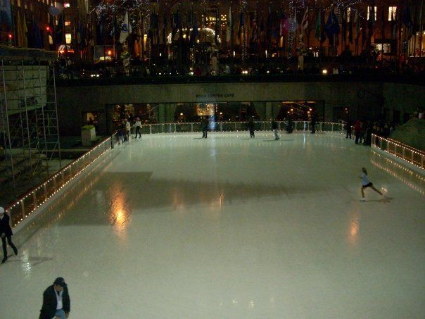 Ice skating rink next to the Today show