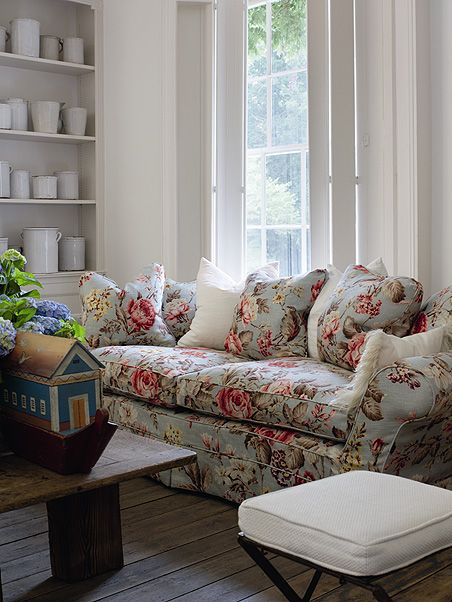Andrew Martin Fabric in Duck Egg, available at http://www ...