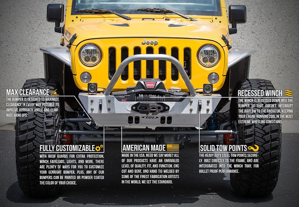 Genright Off Road Jeek Jku Front Bumper Bumpers Jeep Jk Jeep