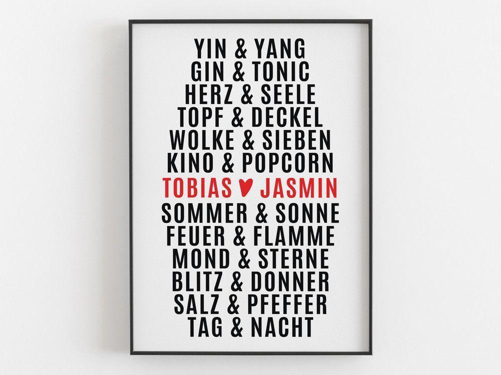 Originaldruck - Hochzeitsgeschenk - Zusammen - Kunstdruck - Poster - ein Designerstück von vonHerzen bei DaWanda #kinoboxgeschenk Originaldruck - Hochzeitsgeschenk - Zusammen - Kunstdruck - Poster - ein Designerstück von vonHerzen bei DaWanda #kinoboxgeschenk