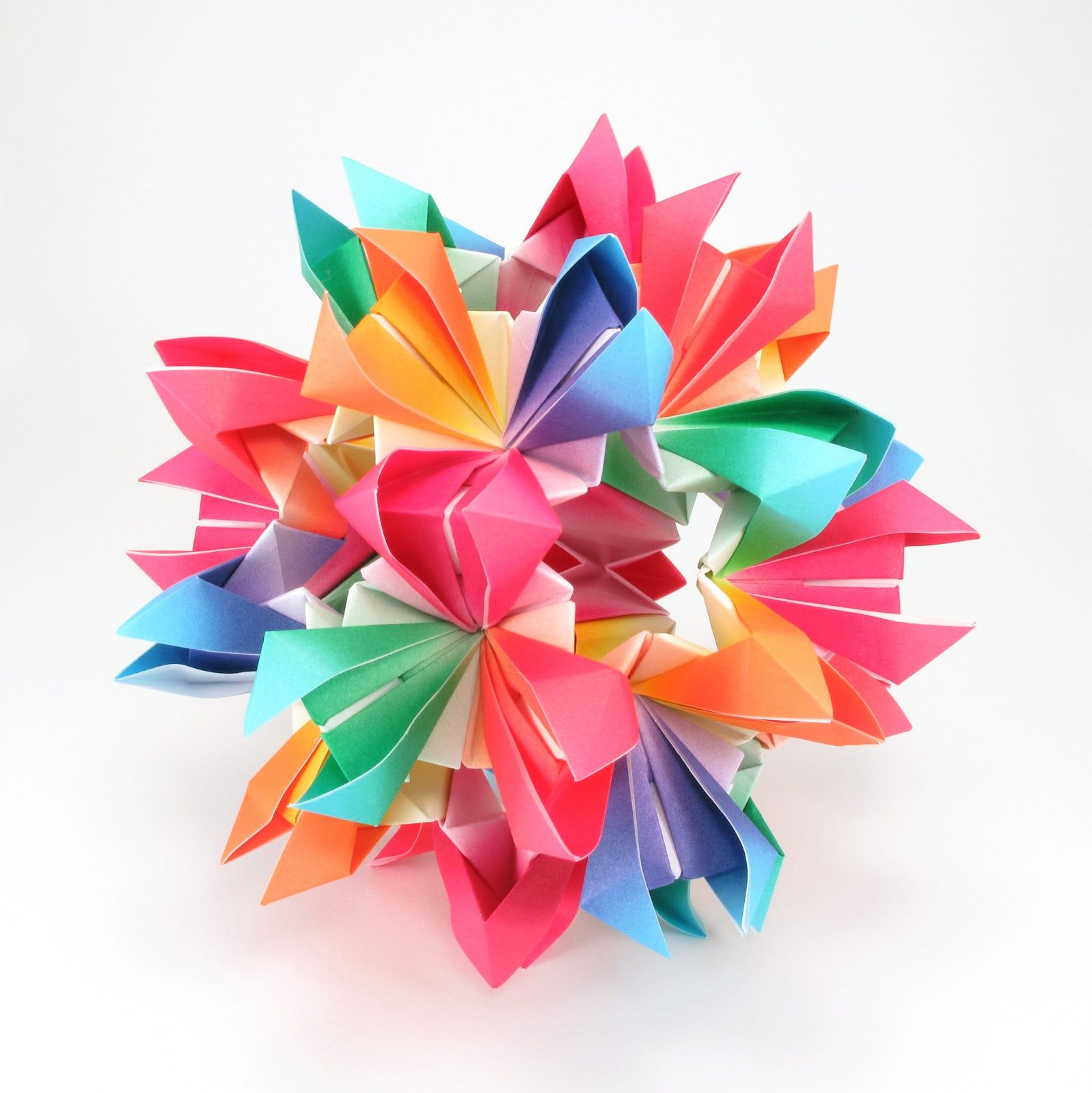 Kusudama Origami Free Patterns Really Like How Flowery This Piece