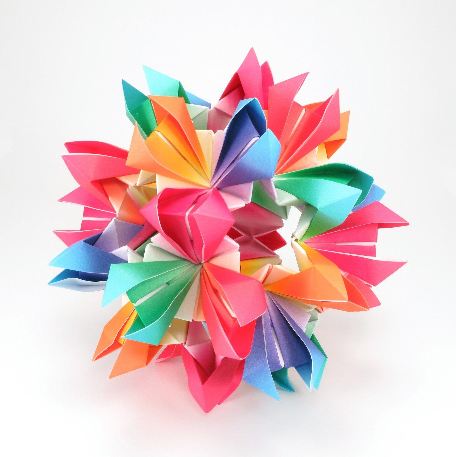 Kusudama origami free patterns really like how flowery this kusudama origami free patterns really like how flowery this piece looks jeuxipadfo Gallery