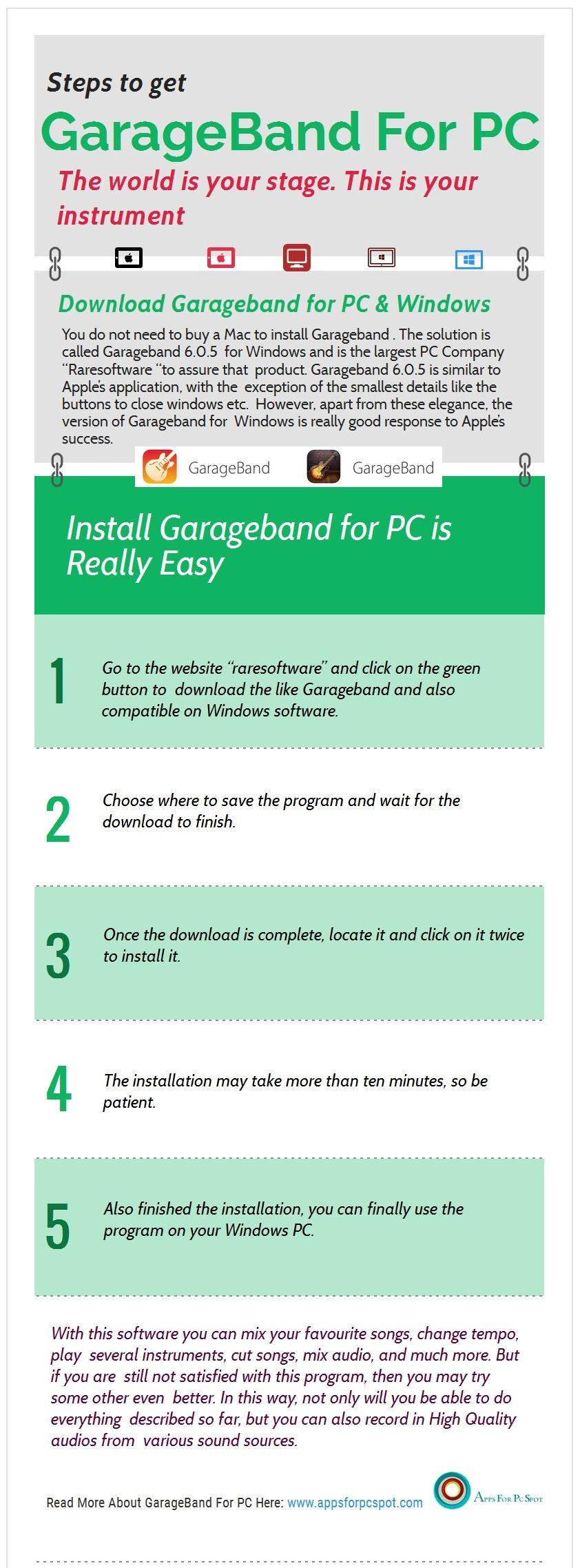 Download GarageBand for PC – Windows 7, 8 1, 10 | Apps & Games for