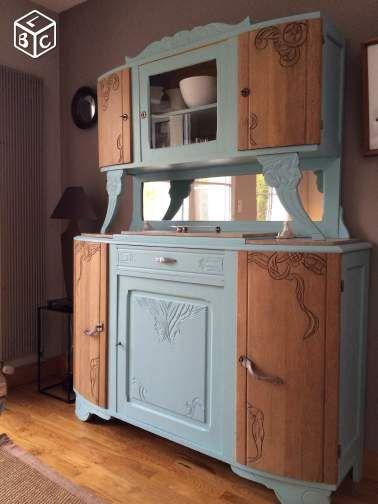 Vaisselier vintage entierement relook visite mobilier de salon meubles art deco et - Relooking vieux meubles ...