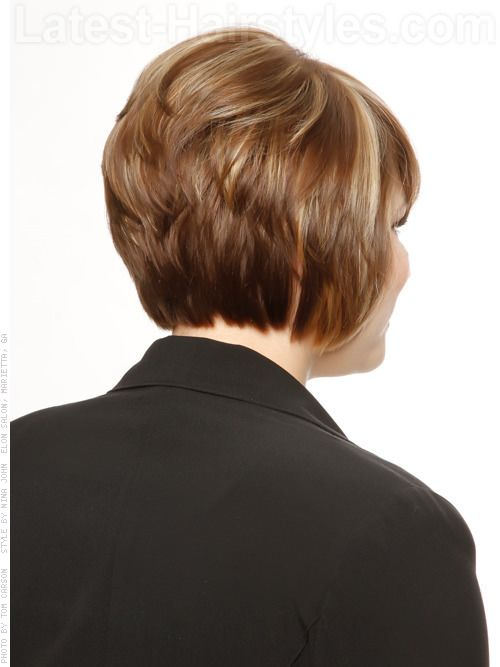 Stacked Bob Hairstyles Back View    HeadTurning Short