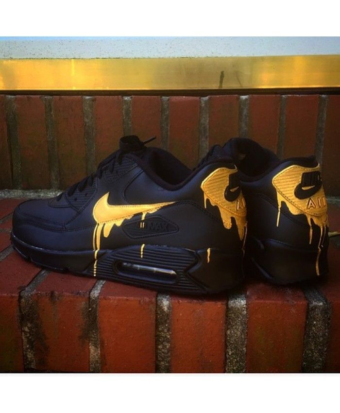 competitive price a7f06 e0e33 Nike Air Max 90 Candy Drip Melt Black Gold Trainer httpstwitter.