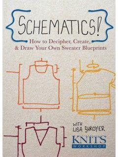 Schematics how to decipher create and draw your own sweater how to decipher create and draw your own sweater blueprints interweavestore malvernweather Gallery