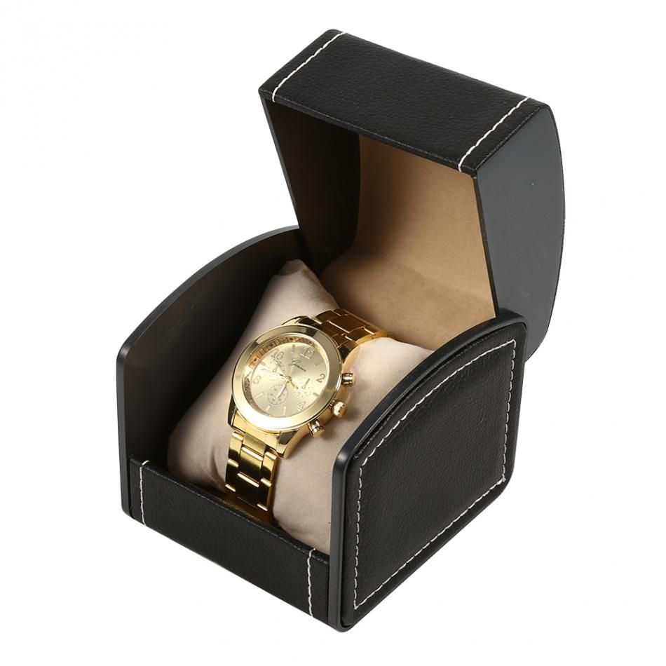 2017 luxury Leatherette Watch Box Trendy Jewelry Box with pillow