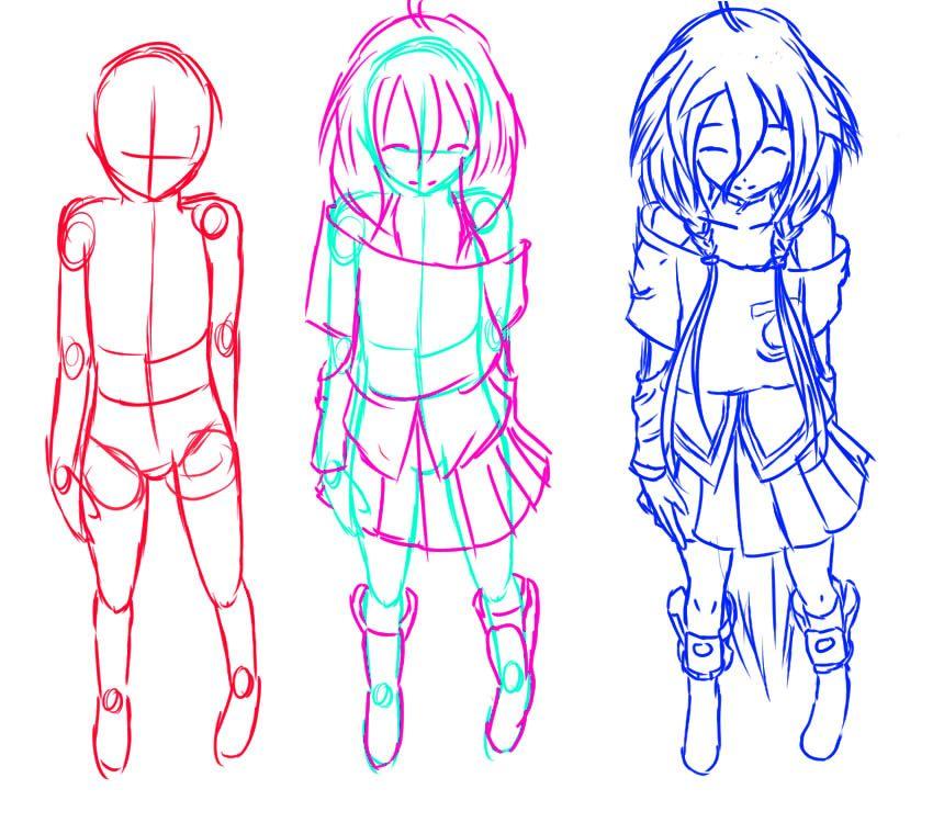 How To Draw Anime How To Draw Manga Anime Example Character Ia By Nemrac01 Manga Drawing Anime Drawings Drawings