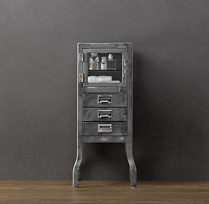 Pharmacy Bath Collection Burnished Steel Cabinet Drawers Bath Cabinets Cabinet