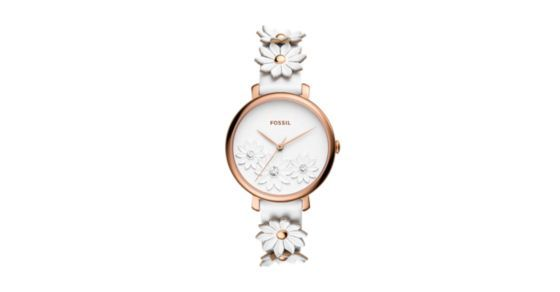 This 36mm Jacqueline features a white novelty dial with