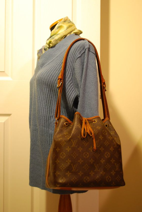 4e71ce96511b Louis Vuitton Noe PM Shoulder Bucket Bag at TheBagLadyCollection
