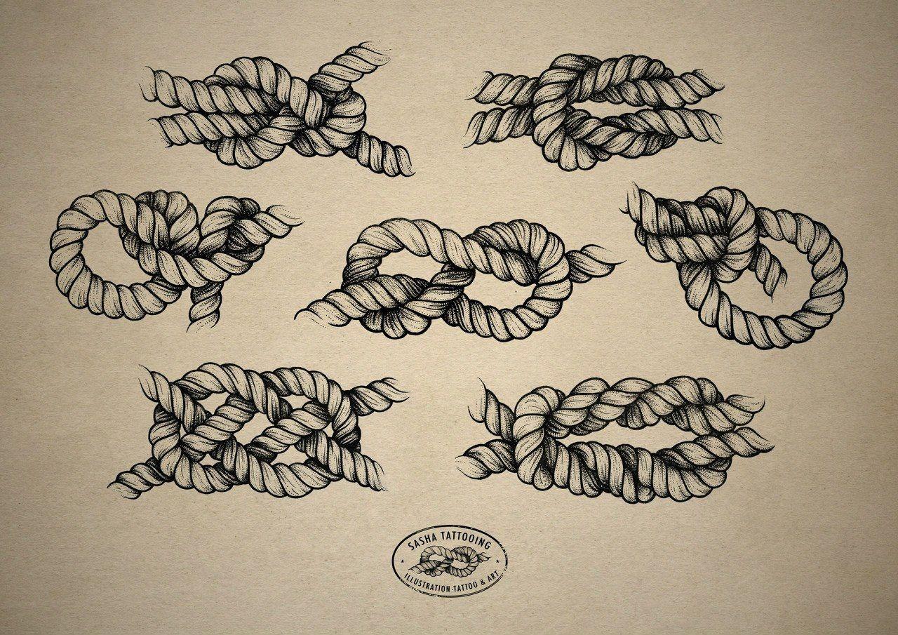 rope knot tattoo design tattoo pinterest rope tattoo tattoo designs and tattoo. Black Bedroom Furniture Sets. Home Design Ideas