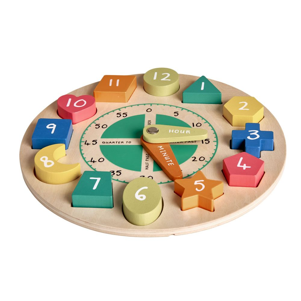 wooden clock puzzle | toys | wooden clock, clock, travel
