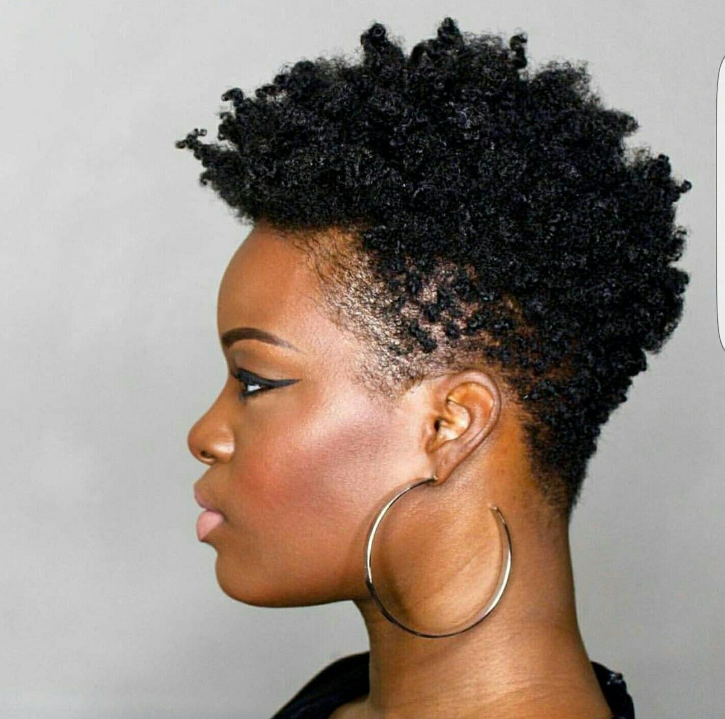 Nappy Mohawk Short Natural Hair Styles 4c Natural Hair Tapered Natural Hair