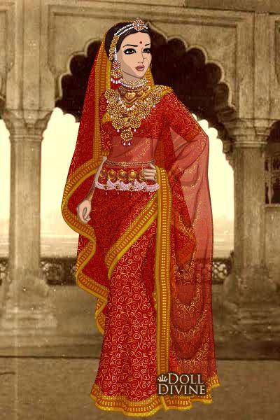 Jodha Bai By Kaurwaki Created Using The Sari Doll