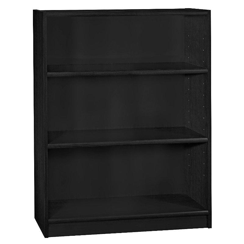 Black 3 Shelf Bookcase Universal Bookcase 3 Shelf Bookcase Shelves