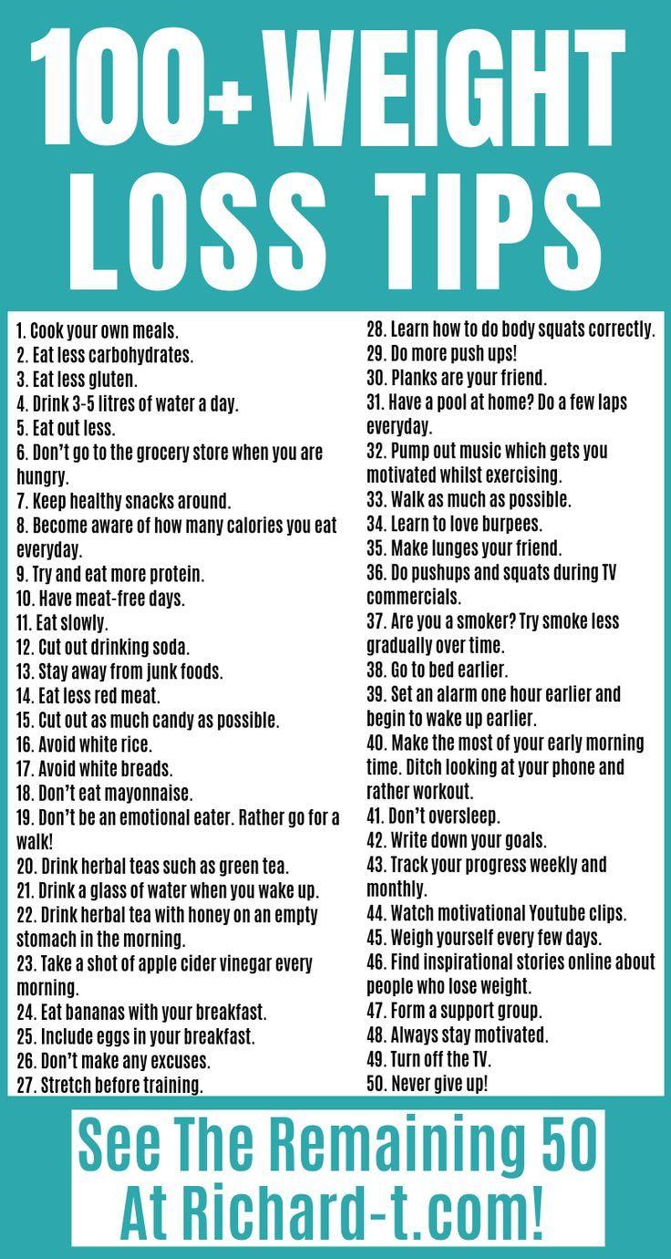 100 + Weight Loss Tipps, die tatsächlich erreichbar sind