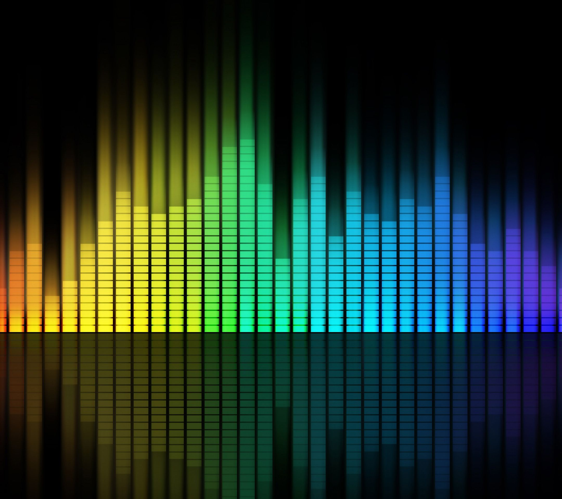 Colouring Music Equalizer Wallpapers for the iPhone 4