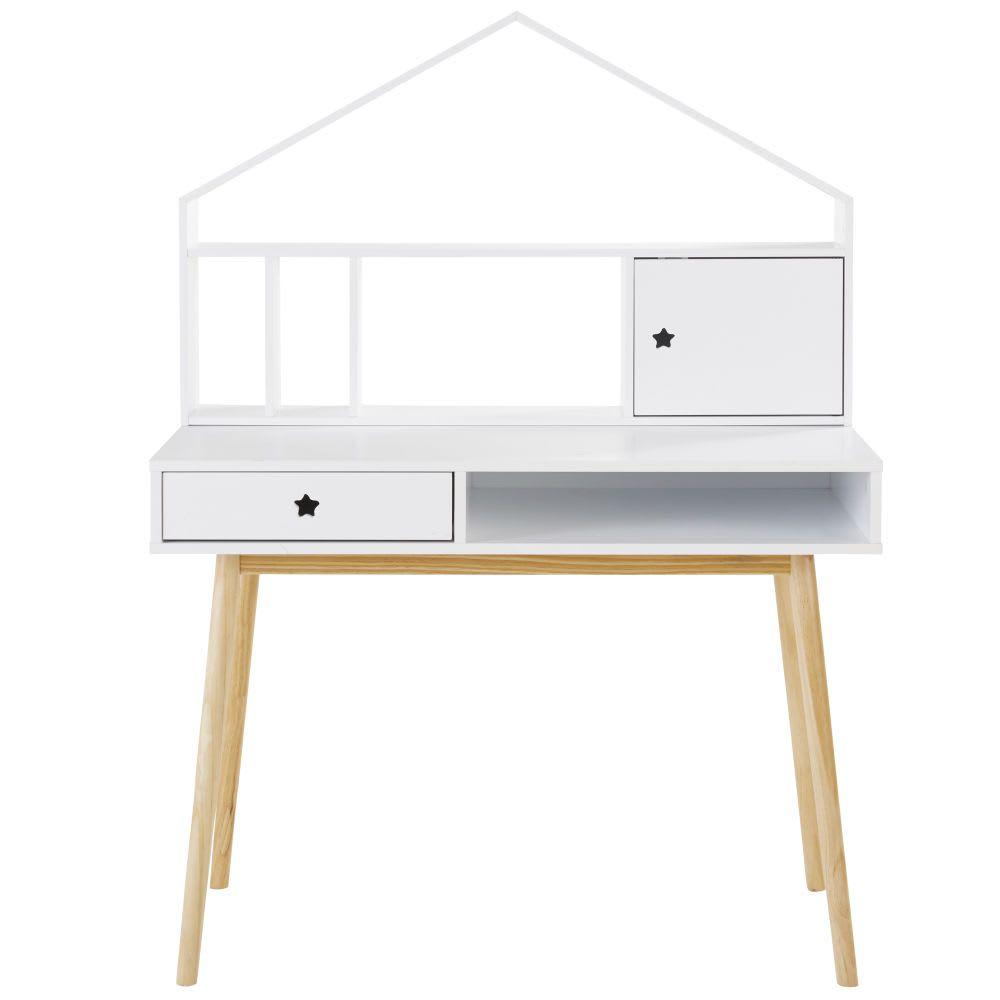 Schreibtisch Mit 1 Schublade Weiss Schreibtischideen