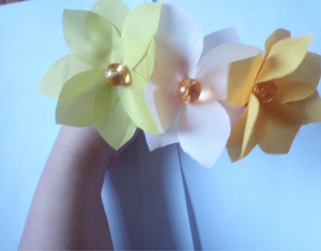 Diy fabric flower headband fabric flower headbands fabric flowers
