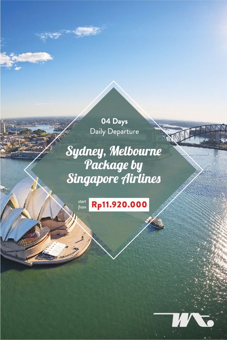 04D Sydney, Melbourne Package by Singapore Airlines Daily