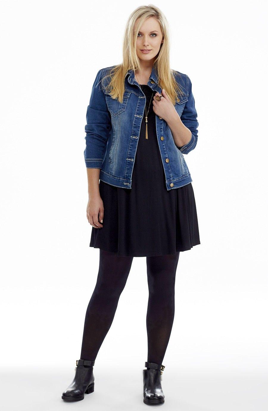 Stretch Denim Jacket Plus Size Jackets Swing Dresses Outfit Denim Jacket Swing Dress Style [ 1380 x 900 Pixel ]