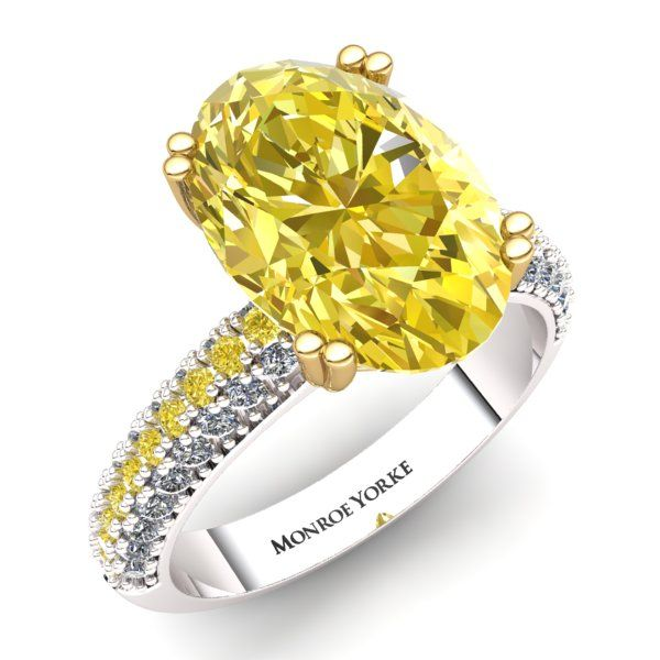Yellow Diamond Ring Contact us at http://www.mydiamonds.com.au for more information