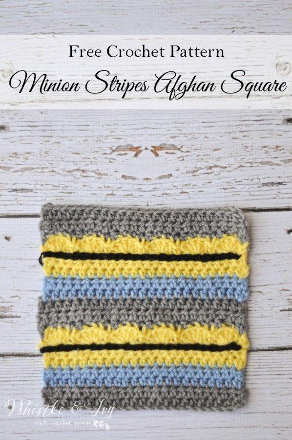 Free Crochet Pattern - Dieses afghanische Minion Stripes-Quadrat ist eine unterhaltsame Ergän... #minioncrochetpatterns Free Crochet Pattern - Dieses afghanische Minion Stripes-Quadrat ist eine unterhaltsame Ergänzung zu…,  #afghanische #Crochet #dieses #eine #Ergänzung #free #ist #Minion #Pattern #StripesQuadrat #unterhaltsame #minionpattern Free Crochet Pattern - Dieses afghanische Minion Stripes-Quadrat ist eine unterhaltsame Ergän... #minioncrochetpatterns Free Crochet Pattern - Dieses #minioncrochetpatterns