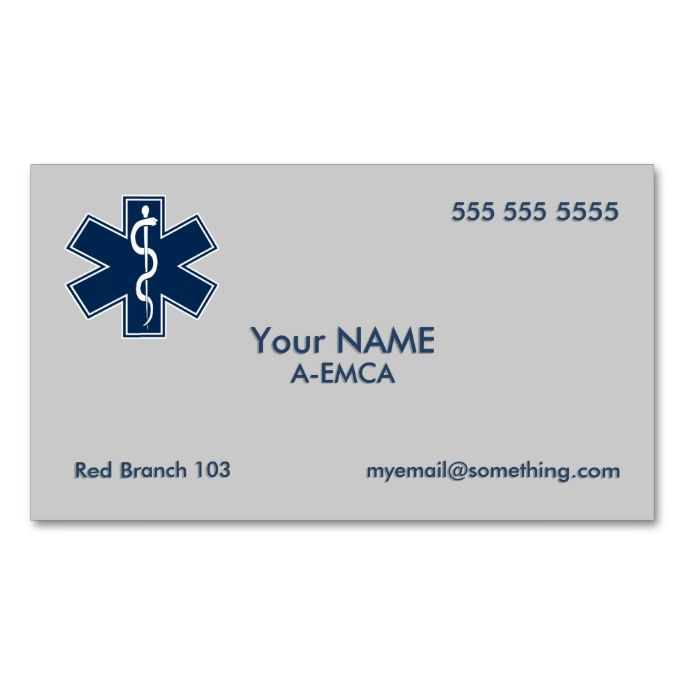 Paramedic emt ems double sided standard business cards pack of 100 shop paramedic emt ems business card created by jerrylambert personalize it with photos text or purchase as is colourmoves