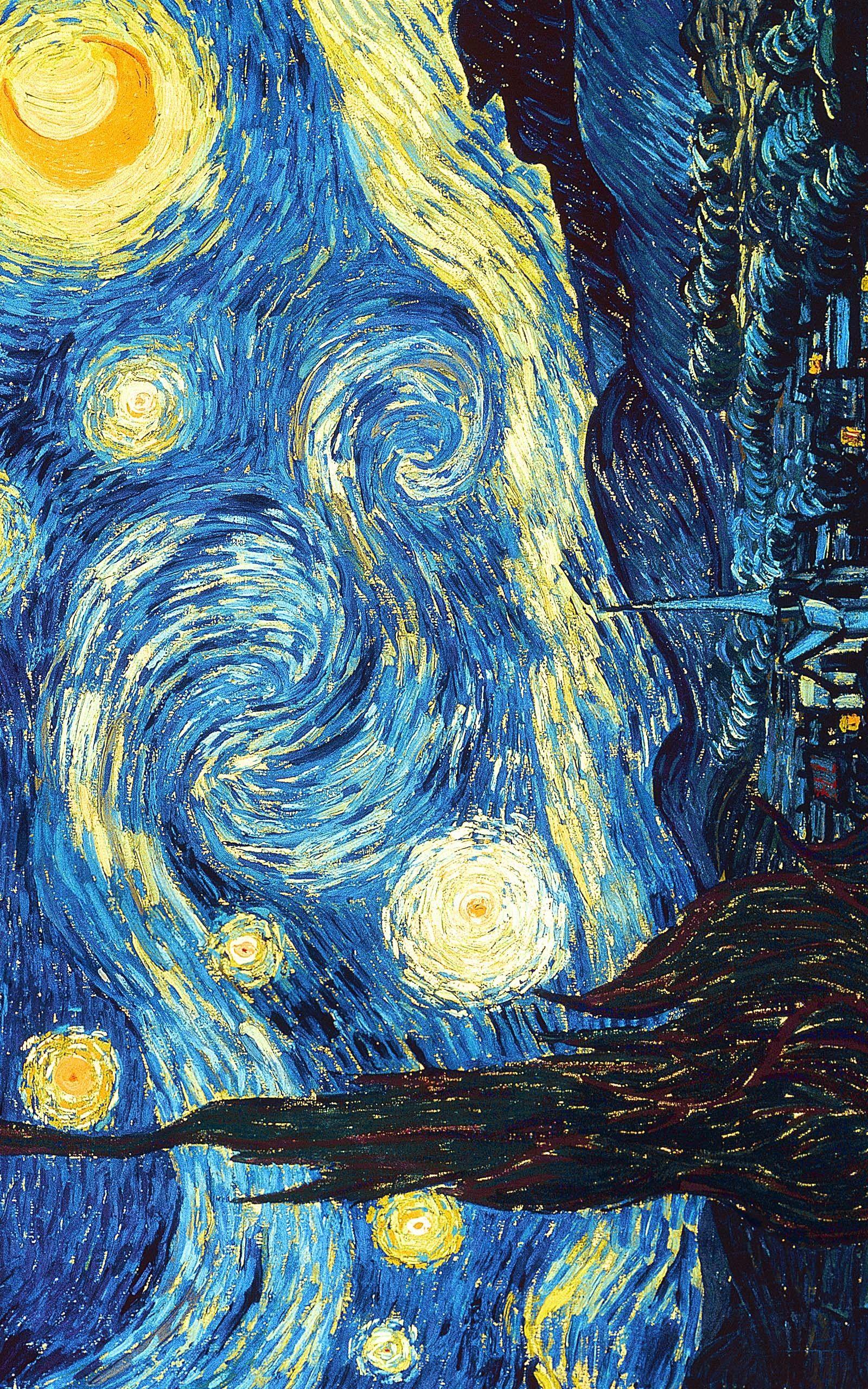 Starry Night By Vincent Van Gogh Fondo De Arte Pinturas Fondo De Pantalla Pintura