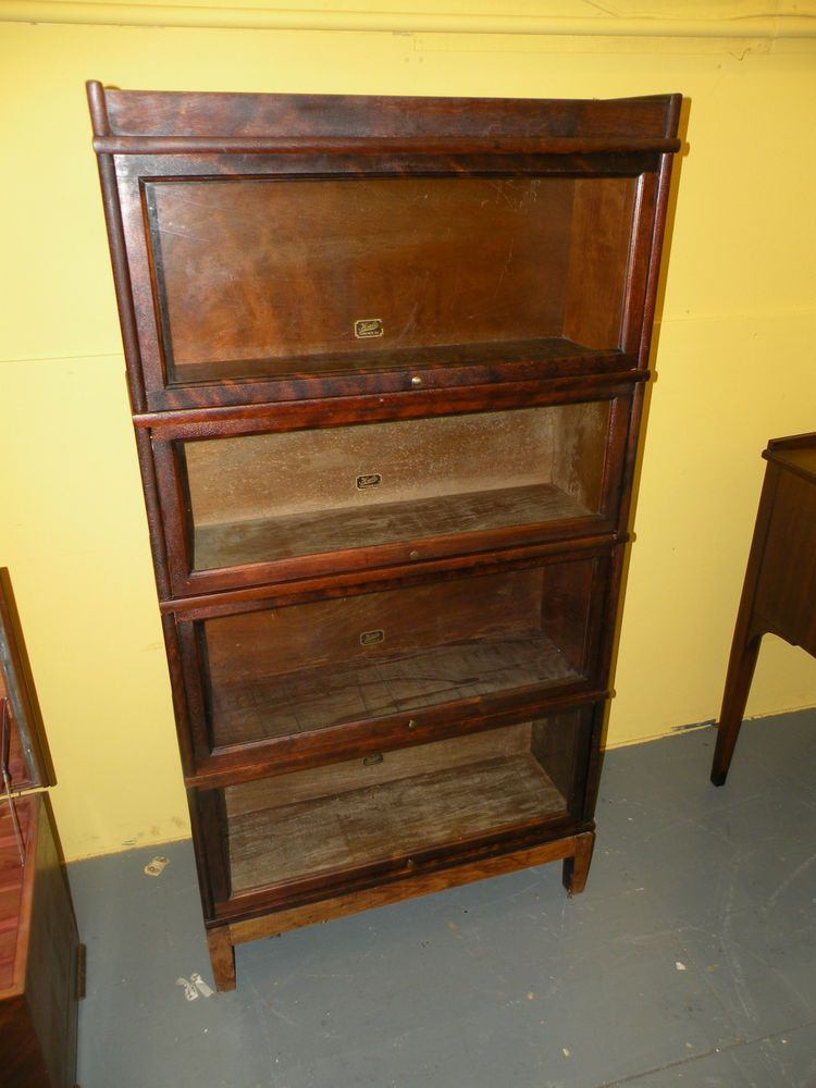 Antique 4 Section Barrister Lawyer S Bookcase Display Cabinet Hale Herkimer Ny