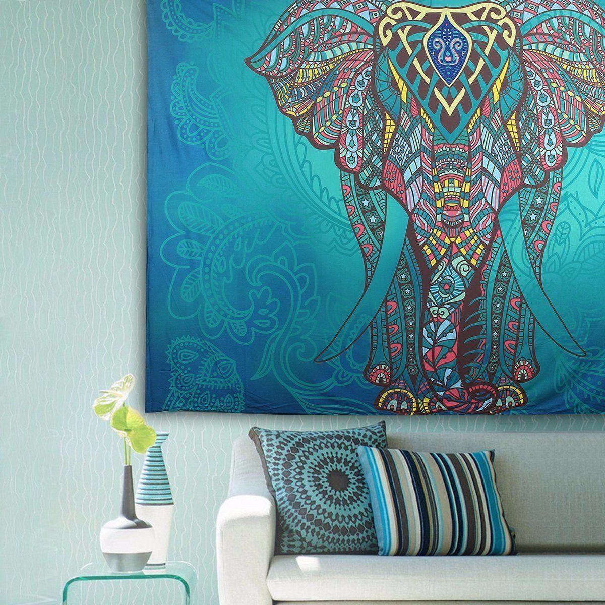 hanging beach towel. Indian Mandala Elephant Tapestry Wall Hanging Blanket Beach Towel Throw Yaga Bedspread Curtain M