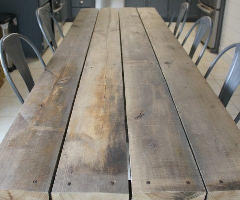 rustic poplar table