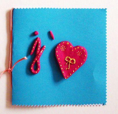 Carte coeur en pâte à sel - Tête à modeler | Cartes coeur, Pate a sel, Cartes décorées