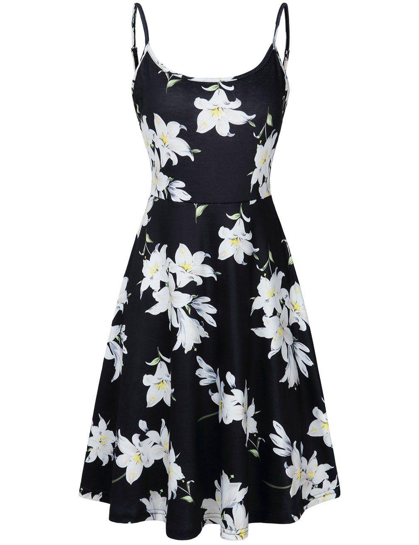 White and Black Sun Dress
