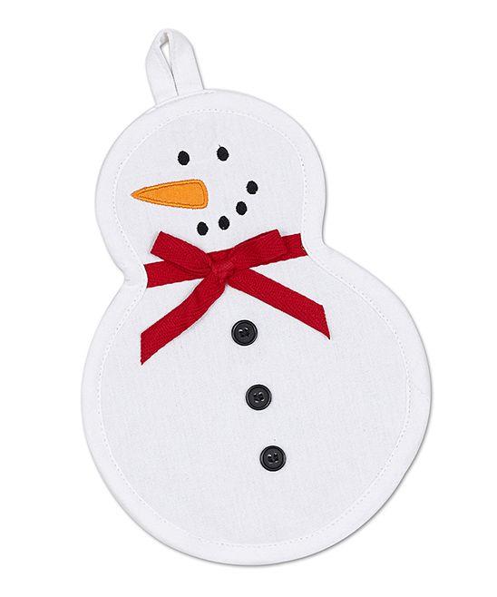 Snowman Potholder - Set of Two; $9.99